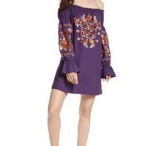 Free People Fleur Du Jour Embroidered Shift Dress